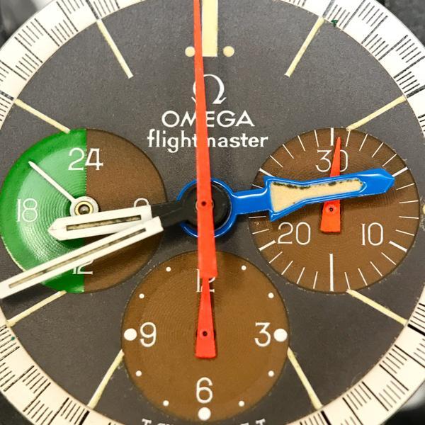 Omega Flightmaster 1970's pilots chronograph