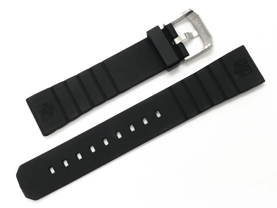100% Autentic Tag Heuer black rubber watch band - tg705