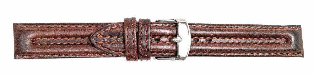 13379 - Brown Biker Style Genuine Leather Strap