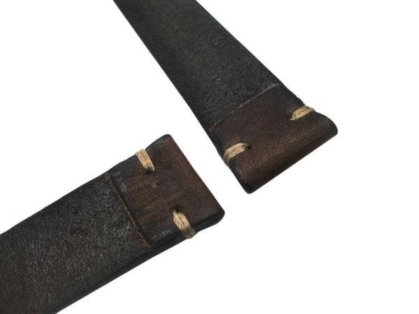 1 piece leather construction watch bands - vin11