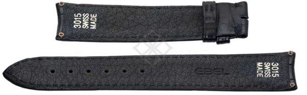 20mm black crocodile skin strap for Ebel Sport Classic - 3015 Swiss Made - screw attachements - EB640