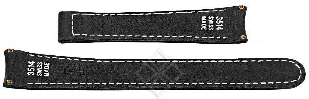 20mm black shark strap for Ebel Sport Classic - 3514 Swiss Made - case screw attachements - EB771