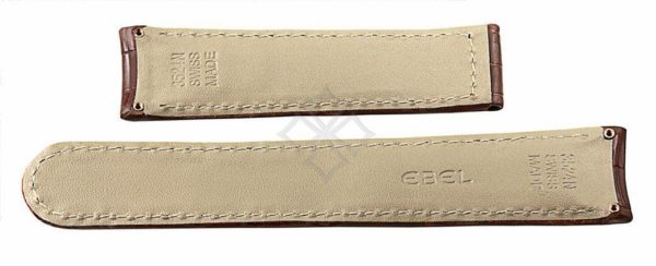 20mm brown crocodile skin strap for Ebel 1911 Senior - 3524 Swiss Made - with screw attachements - EB866