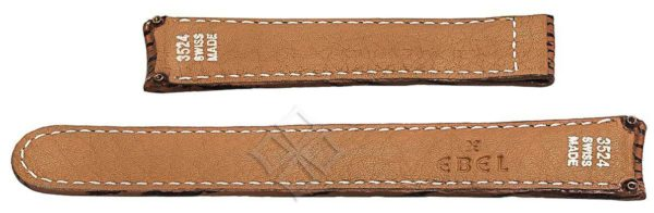 20mm sharkskin watch strap for Ebel 1911, Discovery and Voyager - 3524 Swiss Made - screw attachements