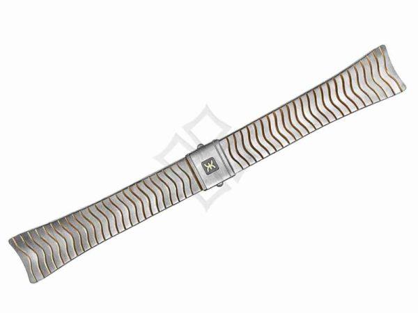 20mm wide ebel sport classic senior chrono two tone wave bracelet