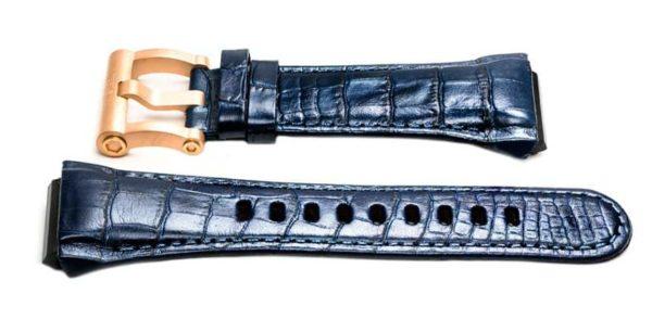 tw steel ceo tech ceb4004 watch band - 24mm blue crocodile grain watch strap