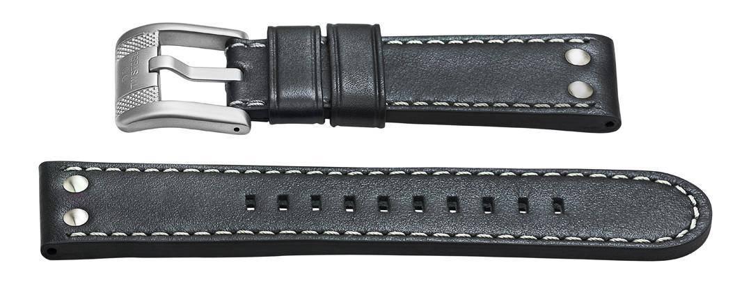 24mm black leather strap - twb63