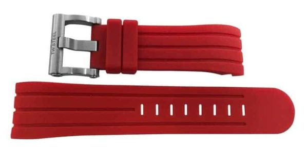 24mm red rubber strap - twb163