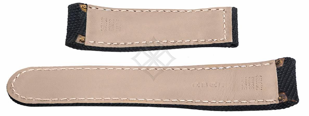 26mm Ebel Tekton Black fabric strap - 35L8CH - with screw attachements - EB283