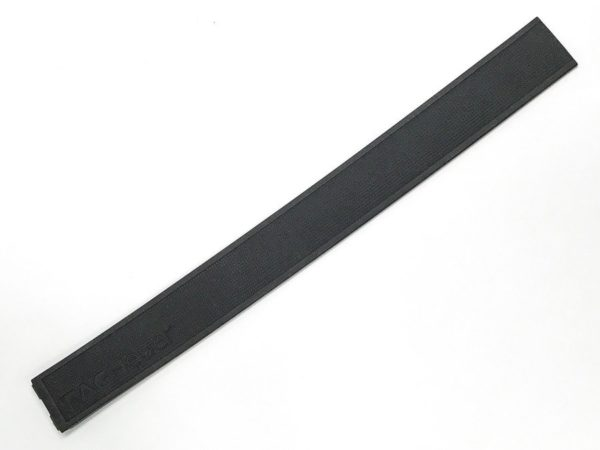 8.5 long Tag Heuer Golf Black Silicone Watch Band 22mm