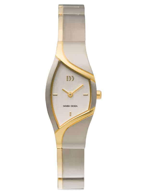 Danish Design Men's Curved Silver-Tone Dial Titanium Wristwatch with Bracelet ( IV65Q839)