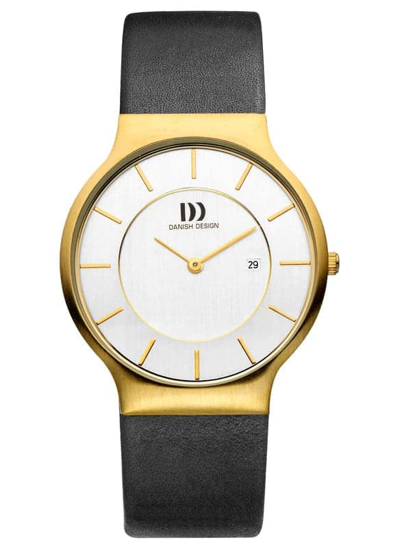 Danish Design Men's White-Dial Stainless Steel Wristwatch with Leather Strap (IQ11Q732)
