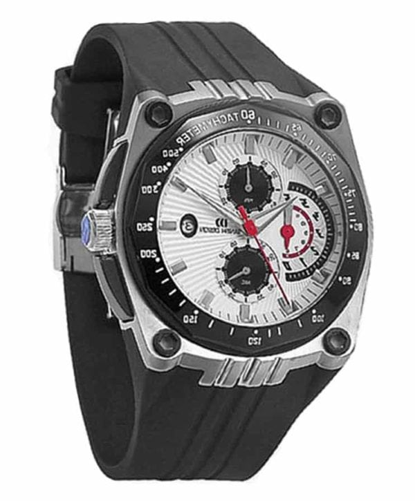 Danish Design Men's White-Dial Stainless Steel Chronograph With Waterproof Rubber Strap (IQ12Q739)