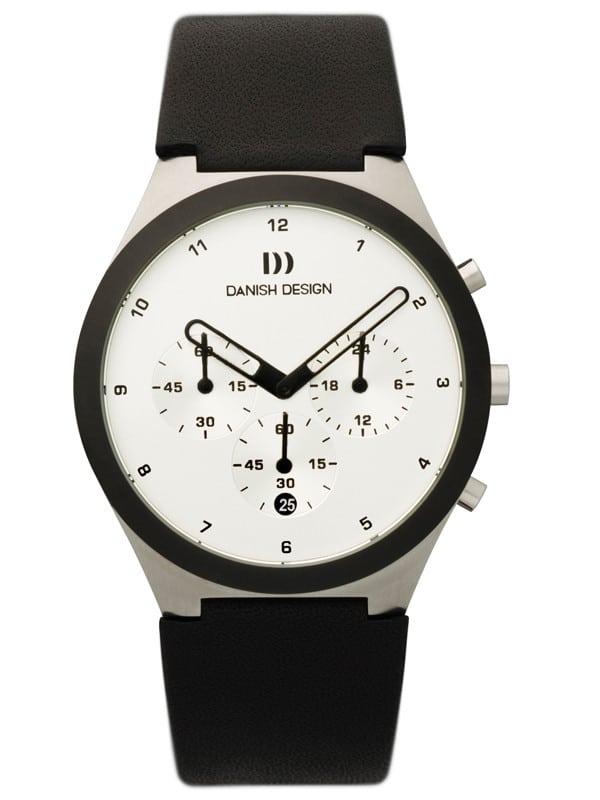Danish Design Men's Sapphire White-Dial Stainless Steel Anna Gotha Chronograph (IQ12Q885)