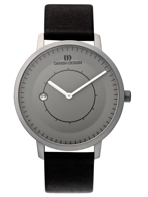 Danish Design Men's Minimal Sapphire Gray-Dial Titanium  Lars PedersonWristwatch (IQ13Q832)