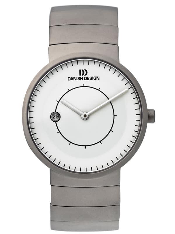 Danish Design Men's Minimal Sapphire White-Dial Titanium Lars Pederson Wristwatch (IQ62Q830)