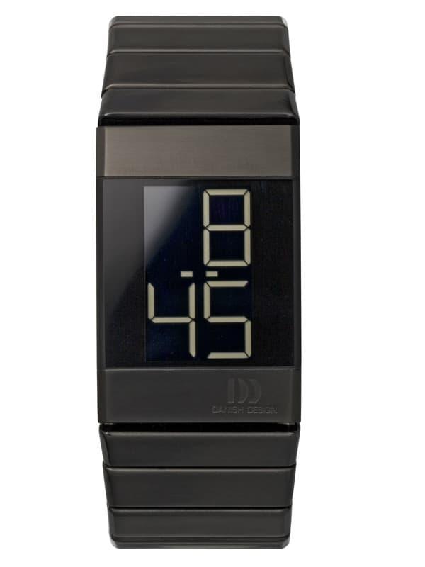 Danish Design Men's Large Black Retro Digital Wristwatch with Steel Bracelet (IQ64Q641)