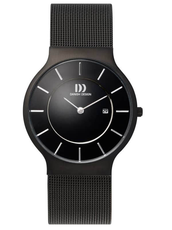 Danish Design Men's Black-Dial Stainless Steel Wristwatch with Mesh Strap (IQ64Q732)