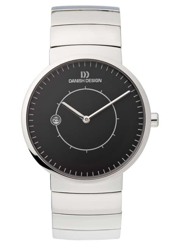 Danish Design Men's Minimal Sapphire Black-Dial Titanium Lars Pederson Wristwatch (IQ64Q830)