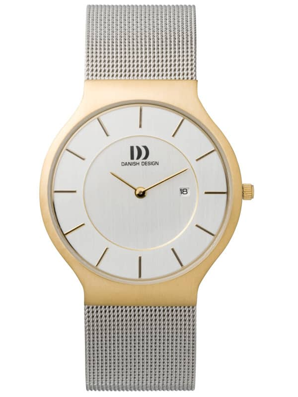 Danish Design Men's White-Dial Stainless Steel Wristwatch with Mesh Strap (IQ65Q732)