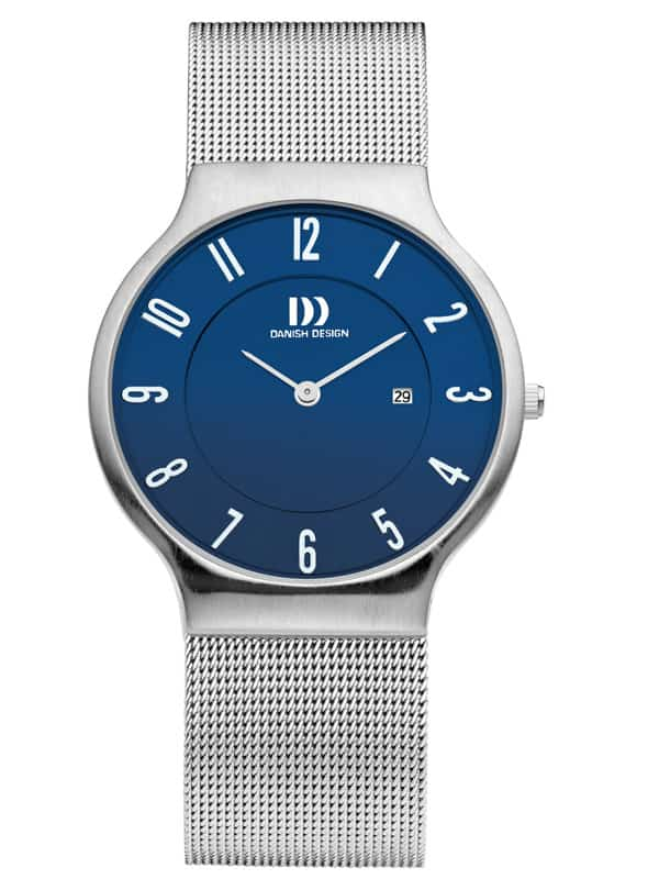 Danish Design Men's Blue-Dial Stainless Steel Wristwatch with Mesh Strap (IQ66Q732)