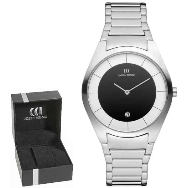 Danish Design Men's Sapphire Two-Tone-Dial Stainless Steel Case and Bracelet Designer Wristwatch by Tirtsah (IQ66Q890)
