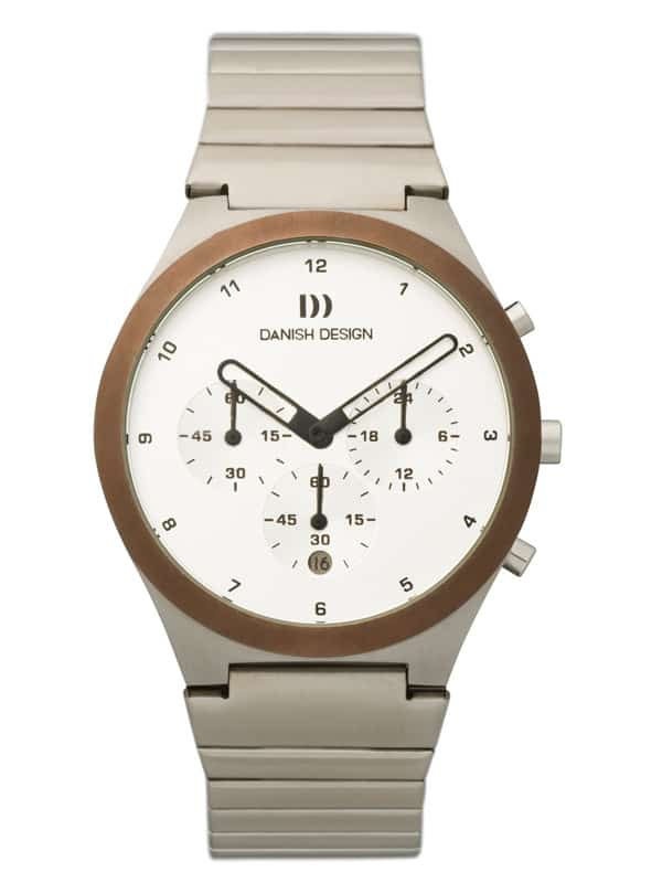 Danish Design Men's Sapphire White-Dial Stainless Steel Anna Gotha Chronograph (IQ68Q885)