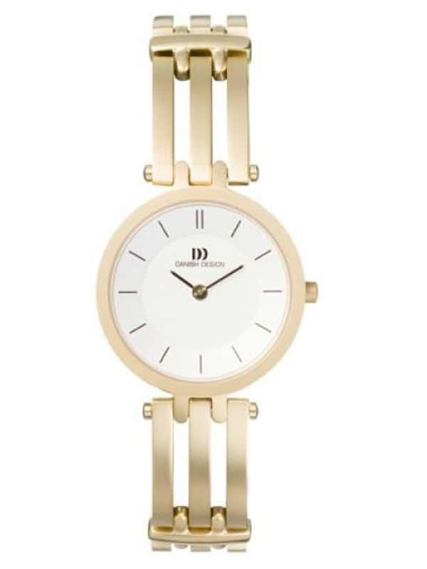 Danish Design Women's Sapphire White-Dial Titanium Wristwatch with Bracelet (IV05Q585)