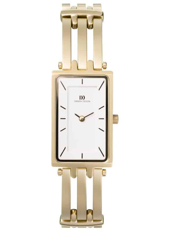 Danish Design Women's Rectangular Sapphire White-Dial Titanium Wristwatch with Bracelet (IV05Q663)