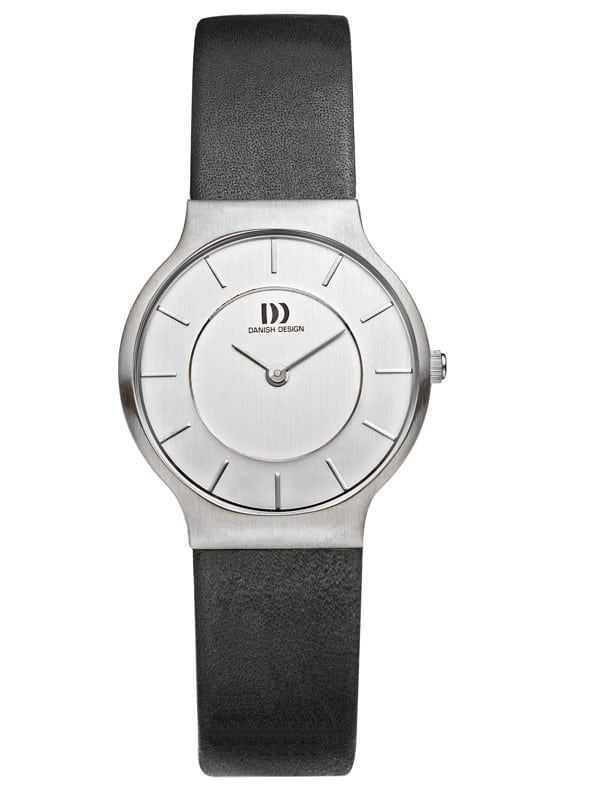 Danish Design Women's Gray-Dial Stainless Steel Wristwatch with Leather Strap (IV12Q732)