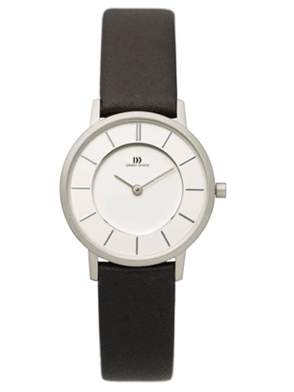 Danish Design Women's White-Dial Stainless Steel Wristwatch with Leather Strap (IV12Q789)