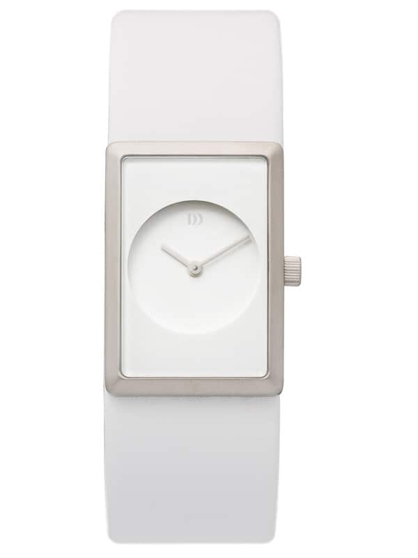Danish Design Women's Pure-White Special Occasion Wristwatch with White Leather Strap (IV12Q867)