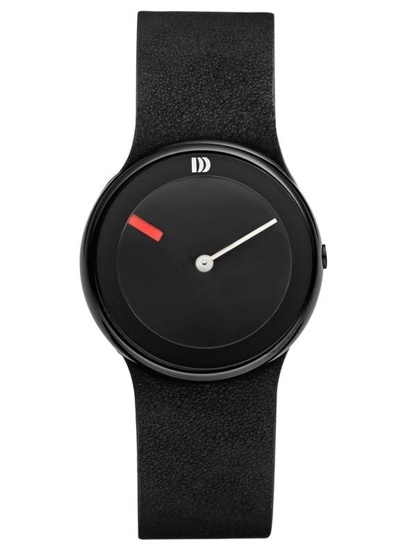 Danish Design Women's Black Ultra Minimal Wristwatch with Leather Strap (IV14Q866)