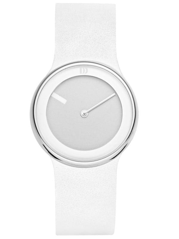 Danish Design Women's White Ultra Minimal Wristwatch with Leather Strap (IV16Q866)