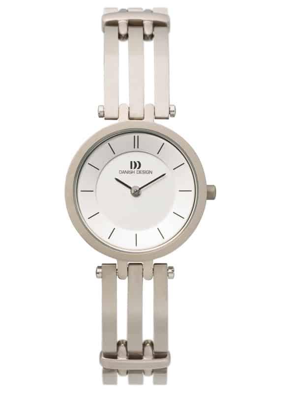 Danish Design Women's Sapphire White-Dial Titanium Wristwatch with Bracelet (IV62Q585)
