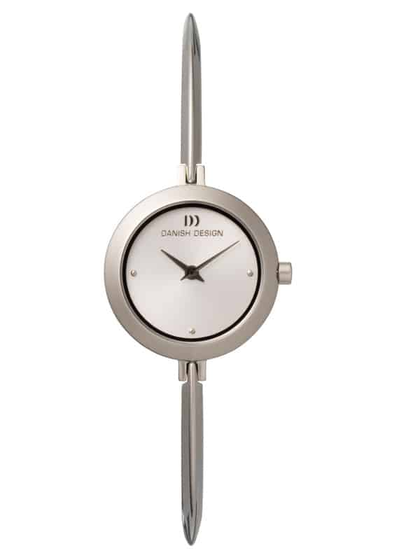 Danish Design Women's Sapphire White-Dial Stainless Steel Wristwatch with Bangle  (IV62Q705)