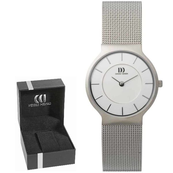 Danish Design Women's Gray-Dial Stainless Steel Wristwatch With Mesh Strap (IV62Q732)