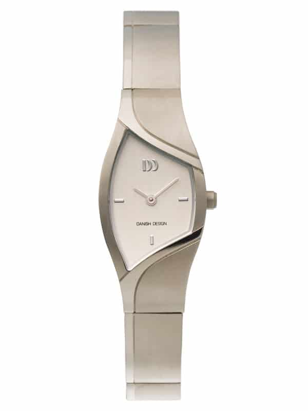 Danish Design Women's Curved Silver-Tone Dial Titanium Wristwatch with Bracelet (IV62Q839)