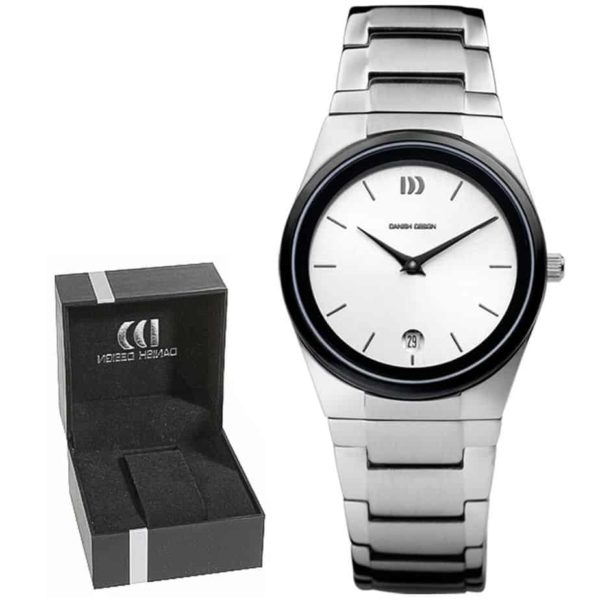 Danish Design Women's White-Dial Stainless Steel Wristwatch With Polished Stainless Steel Bracelet (IV62Q880)