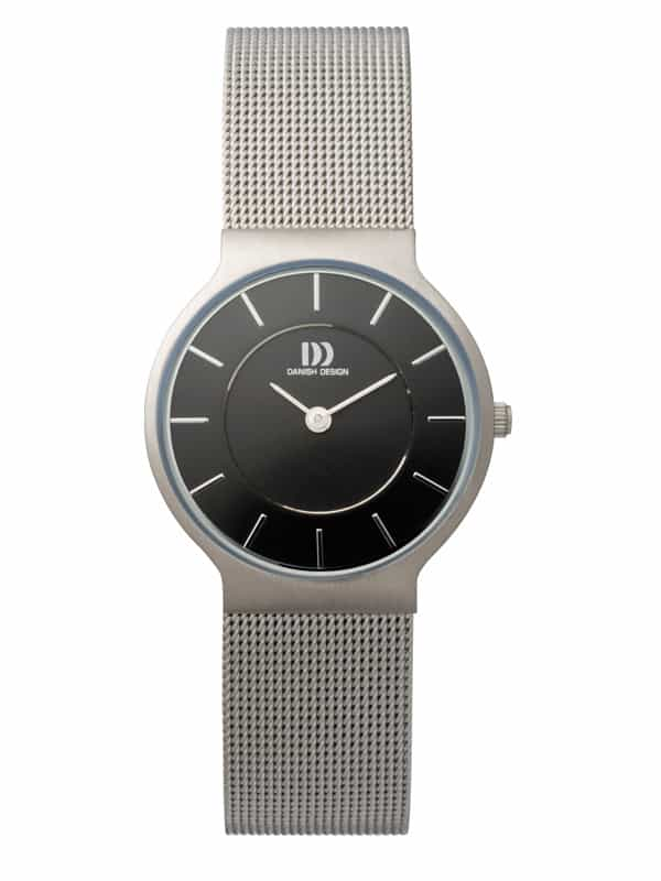 Danish Design Women's Black-Dial Stainless Steel Wristwatch with Mesh Strap (IV63Q732)