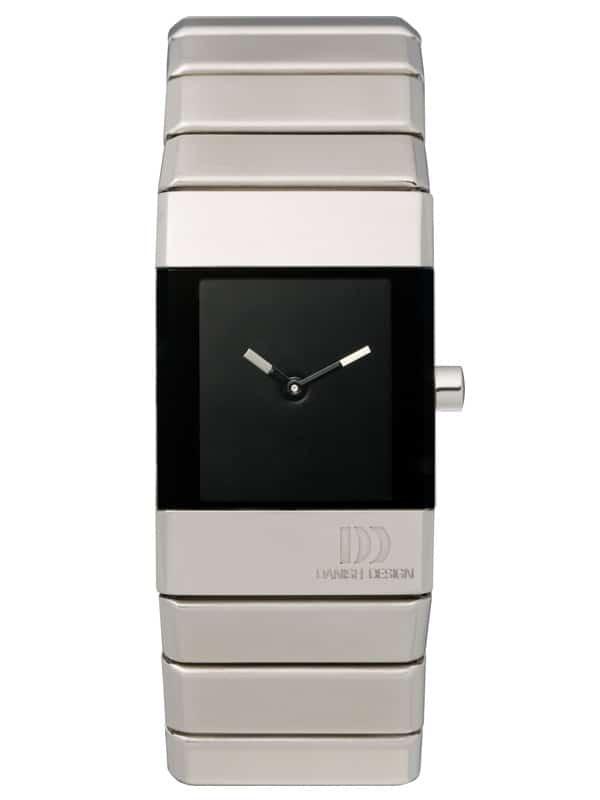 Danish Design Women's Rectangular Black-Dial Stainless Steel Wristwatch with Bracelet (IV63Q767)
