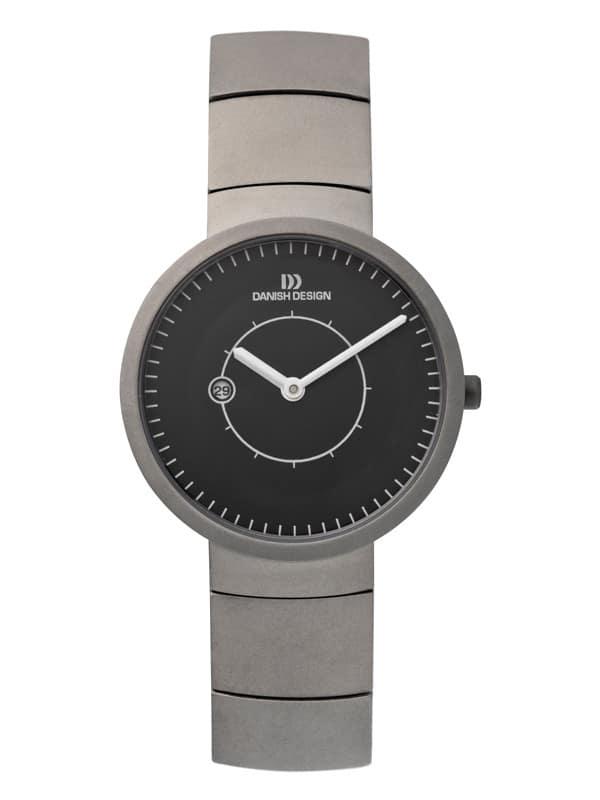 Danish Design Women's Minimal Sapphire Black-Dial Titanium Lars Pederson Wristwatch (IV63Q830)