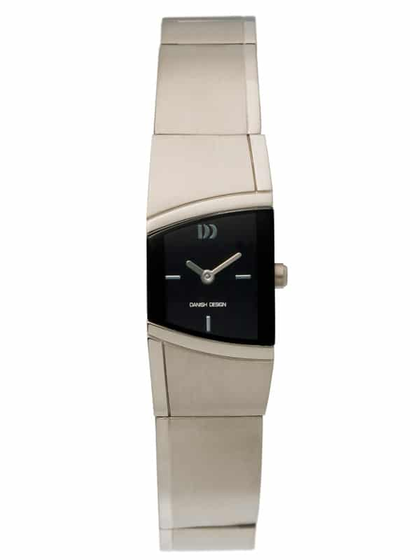 Danish Design Women's Curved Black-Dial Titanium Wristwatch with Bracelet (IV63Q838)