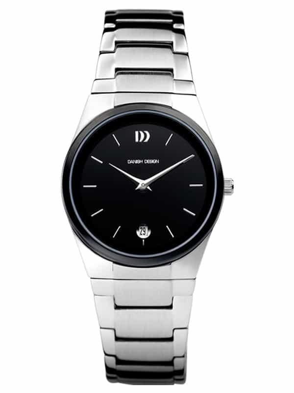 Danish Design Women's Black-Dial Stainless Steel Wristwatch with Herringbone Bracelet (IV63Q880)
