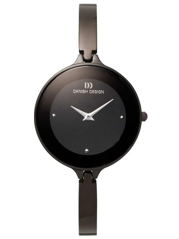 Danish Design Women's Black Stainless Steel Wristwatch with Bangle (IV64Q747)