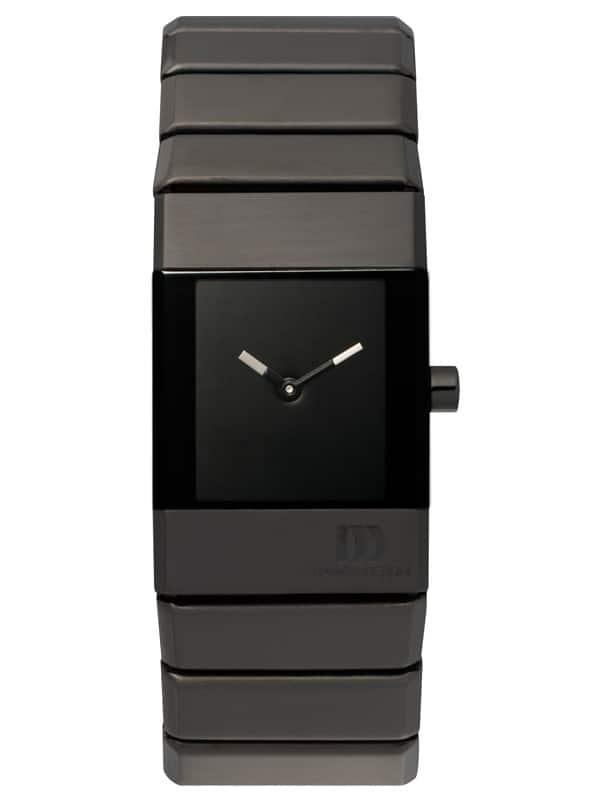 Danish Design Women's Rectangular Black-Dial Stainless Steel Wristwatch with Bracelet (IV64Q767)