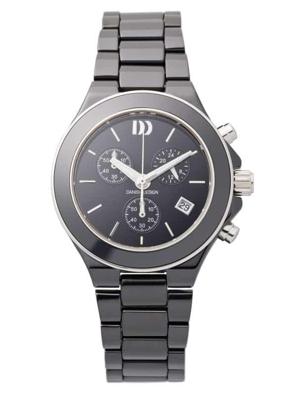 Danish Design Women's Sapphire Black-Dial Black Ceramic Chronograph (IV64Q874)