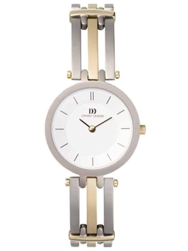 Danish Design Women's Sapphire White-Dial Titanium Wristwatch with Bracelet (IV65Q585)