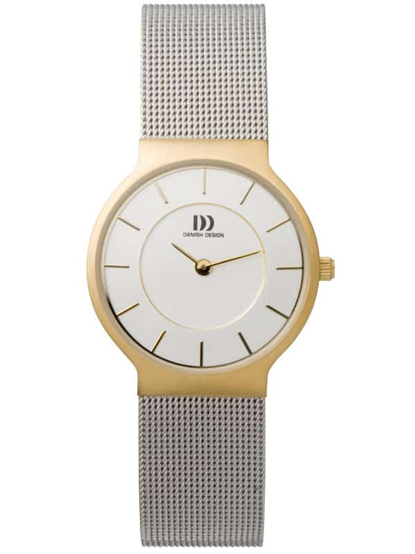 Danish Design Women's White-Dial Stainless Steel Wristwatch with Mesh Strap (IV65Q732)