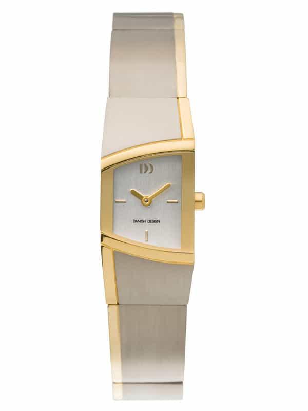 Danish Design Women's Curved Silver-Tone Dial Titanium Wristwatch with Bracelet (IV65Q838)